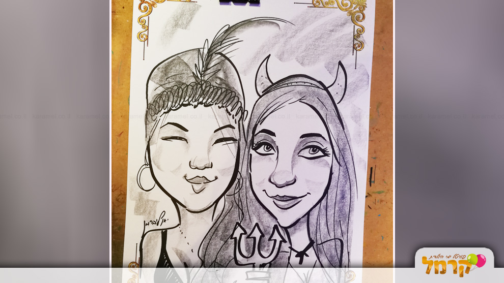 draw me - קריקטורה לאירועים - 073-7756863